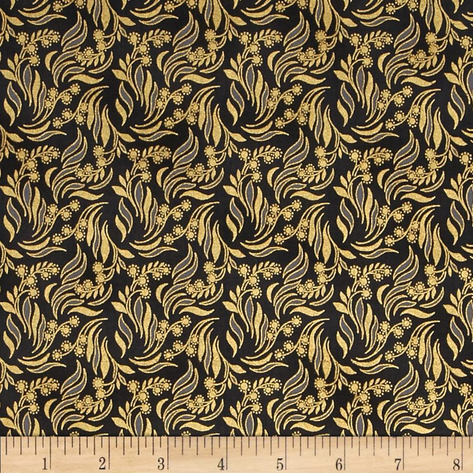 Mary May Metallic Packed Vine Charcoal/Gold