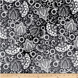 Riley Blake Evening Blooms Laminated Cotton Large Floral