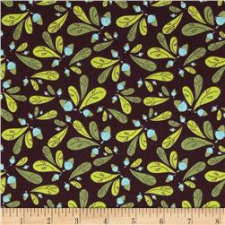 Whoo's Cute Acorns & Leaves Brown Fabric