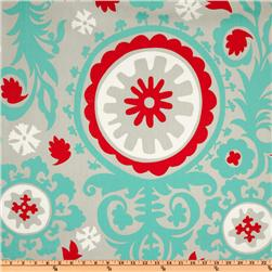 Premier Prints Suzani Twill Harmony/Red Fabric