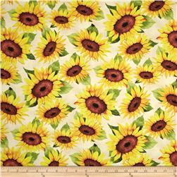Sunshine Orchard Sunflower Toss Tan