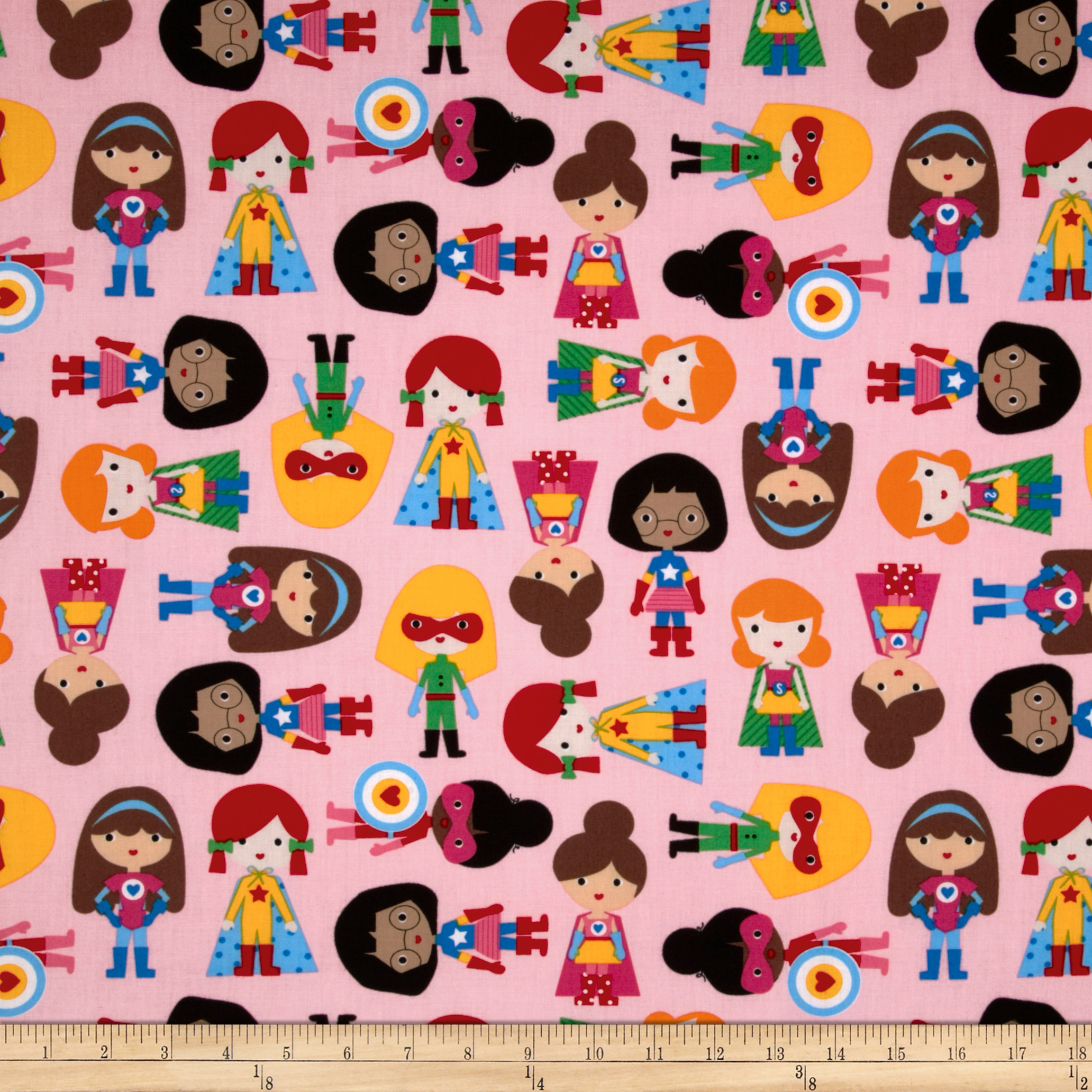 Super kids super girls primary discount designer fabric for Wholesale childrens fabric