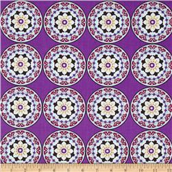 Silk Road Decorative Circles Purple/Multi
