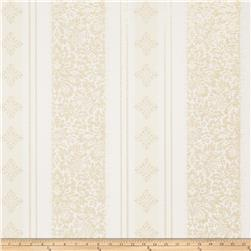 Fabricut Lauren Wallpaper Ivory Gold (Double Roll)