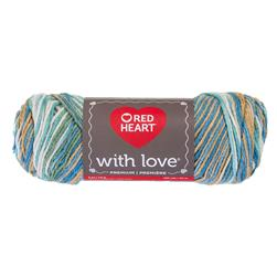 Red Heart Yarn With Love Variegated 1938 Beachy