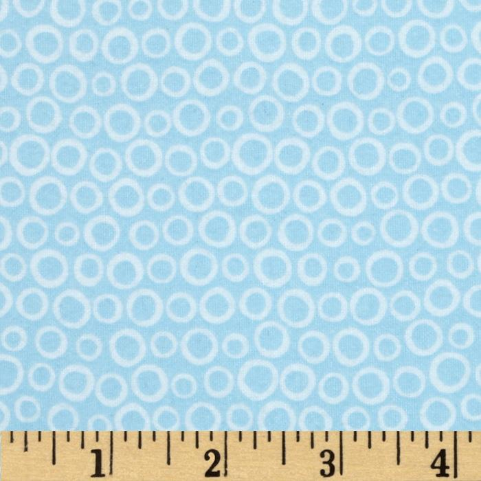 Into the Woods Flannel Circle Blue