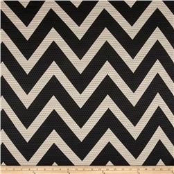 Mesh Knit Chevron Black/Beige