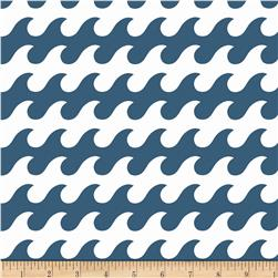 Riley Blake Fly Aweigh Waves Blue Fabric