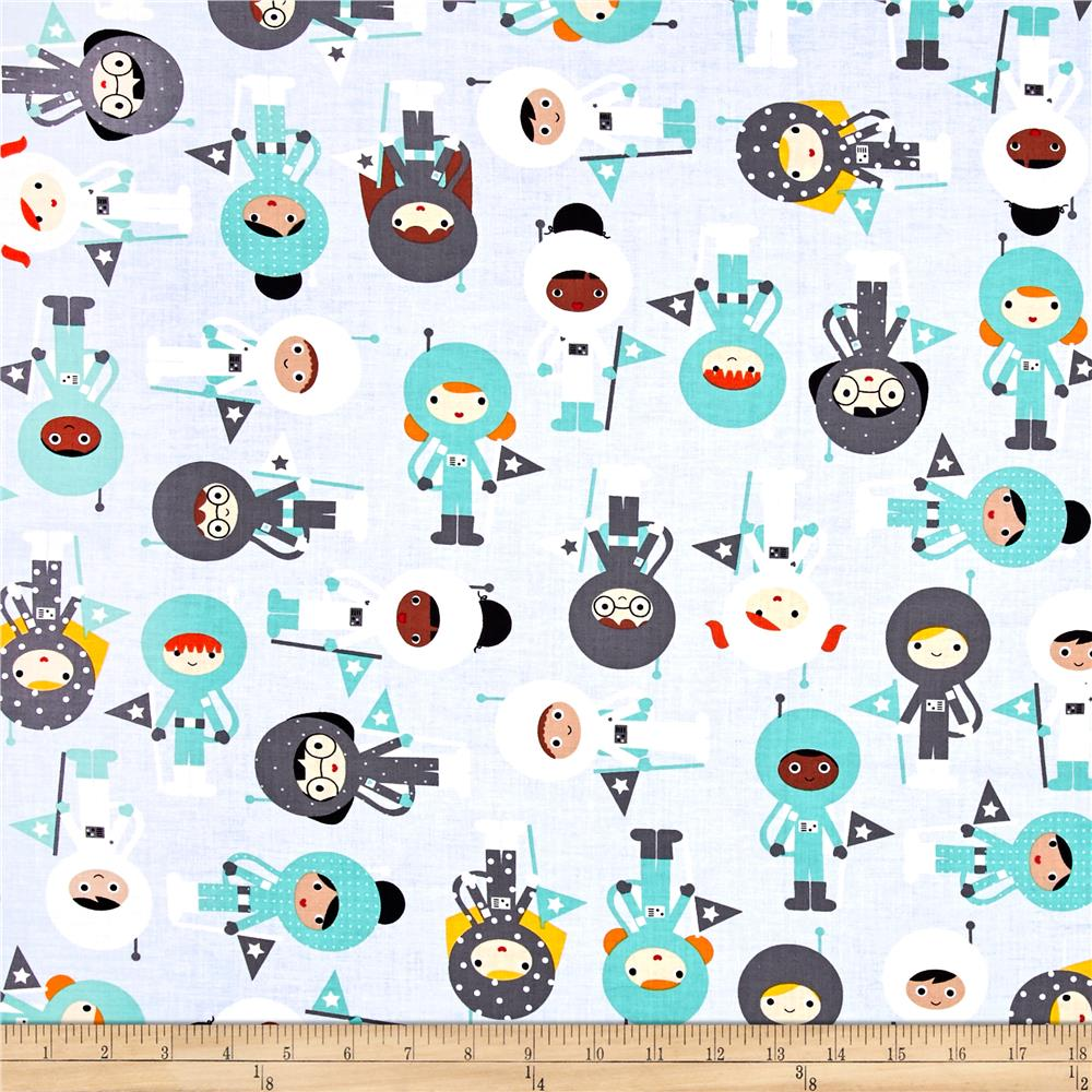 Kaufman space explorers astronauts mint discount for Spaceman fabric