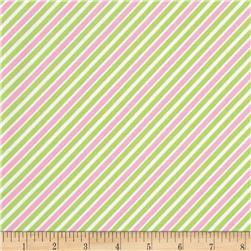 Robert Kaufman Remix Diagonal Stripe Lime