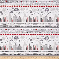 Kanvas The Big Apple Skyline Gray/Red