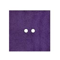 2'' Leather Button Square Purple