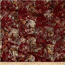 Bali Batiks Handpaints Graphic Floral Ruby