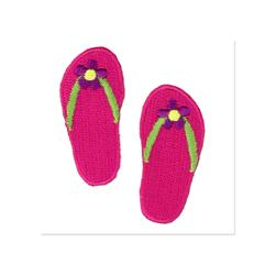 Boutique Applique Flip Flops Pink/Multi