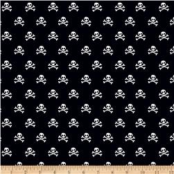 Riley Blake Military Max Skulls Black