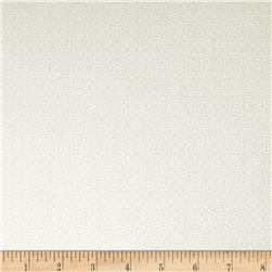 Whisper Print Geo Design Tonal White Fabric