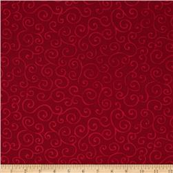 Christmas Pure & Simple Scrolls Claret
