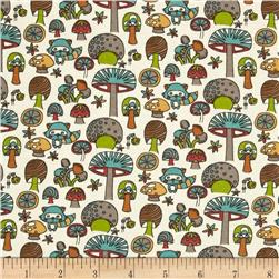 Birch Organic Knit Picnic Whimsy Mushroom Forest Cream