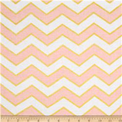 Michael Miller Glitz Metallic Chic Chevron Pearlized Confection