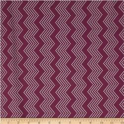 Mosaica Chevrons Purple/White