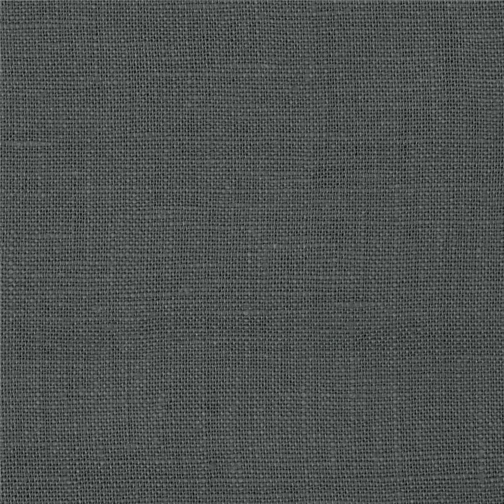 Medium Weight Linen Charcoal Fabric