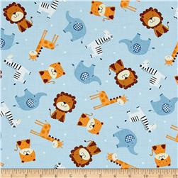 Noah's Story Tossed Animals Light Blue