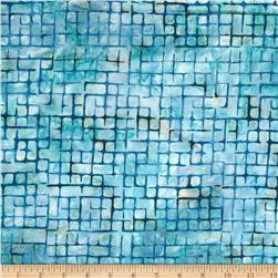 Artisan Batiks Elementals Boxed In Plaid Aqua