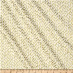 Timeless Treasures Metallic Zephyr Knit Weave Ivory
