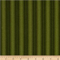 Crazy for Christmas Flannel Stripe Green