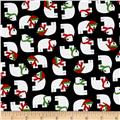 Kaufman Jingle 4 Polar Bears Black