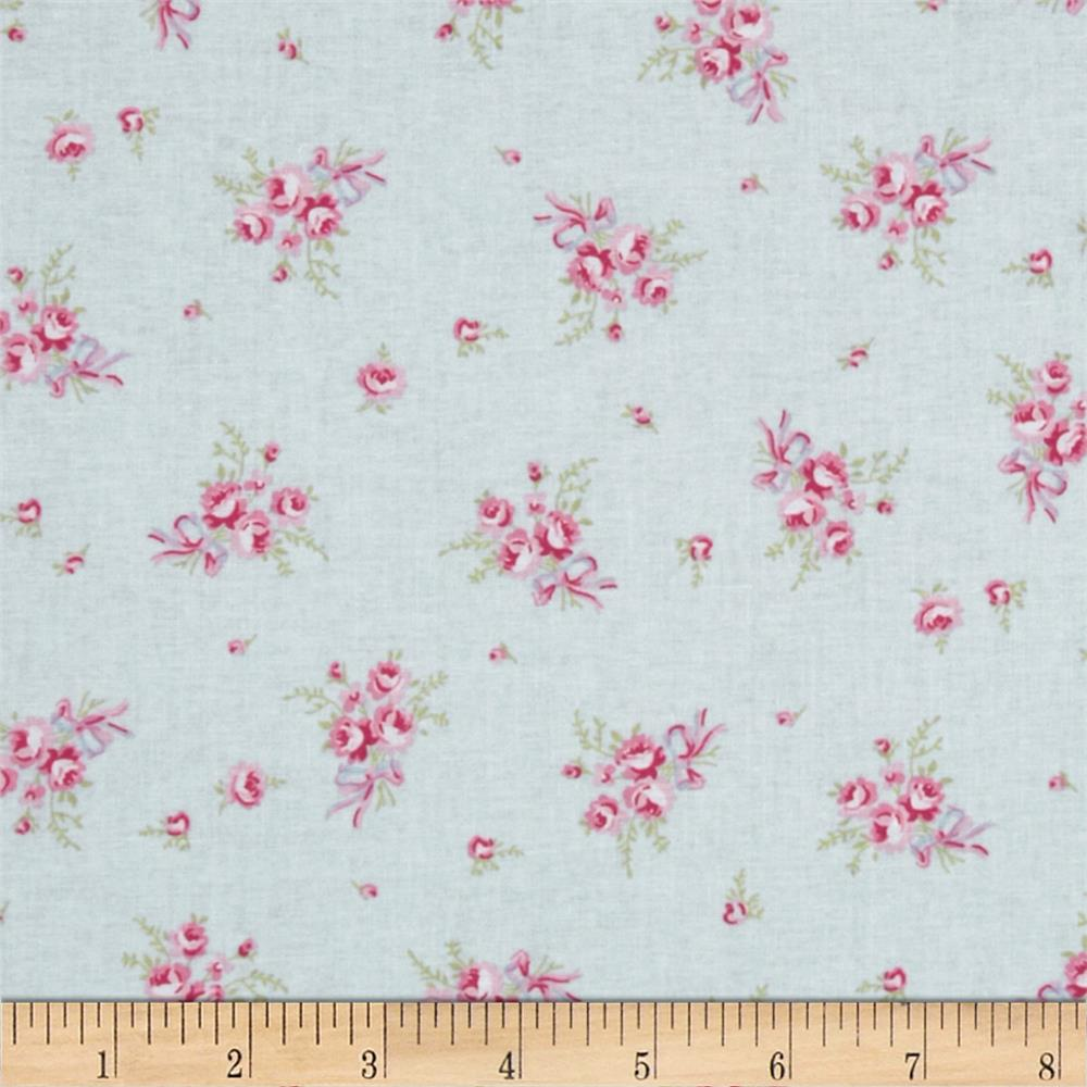 Treasures by Shabby Chic Ballet Rose Rosebud Blue