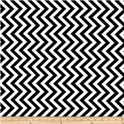 Moda Half Moon Modern Medium Zig Zag Black