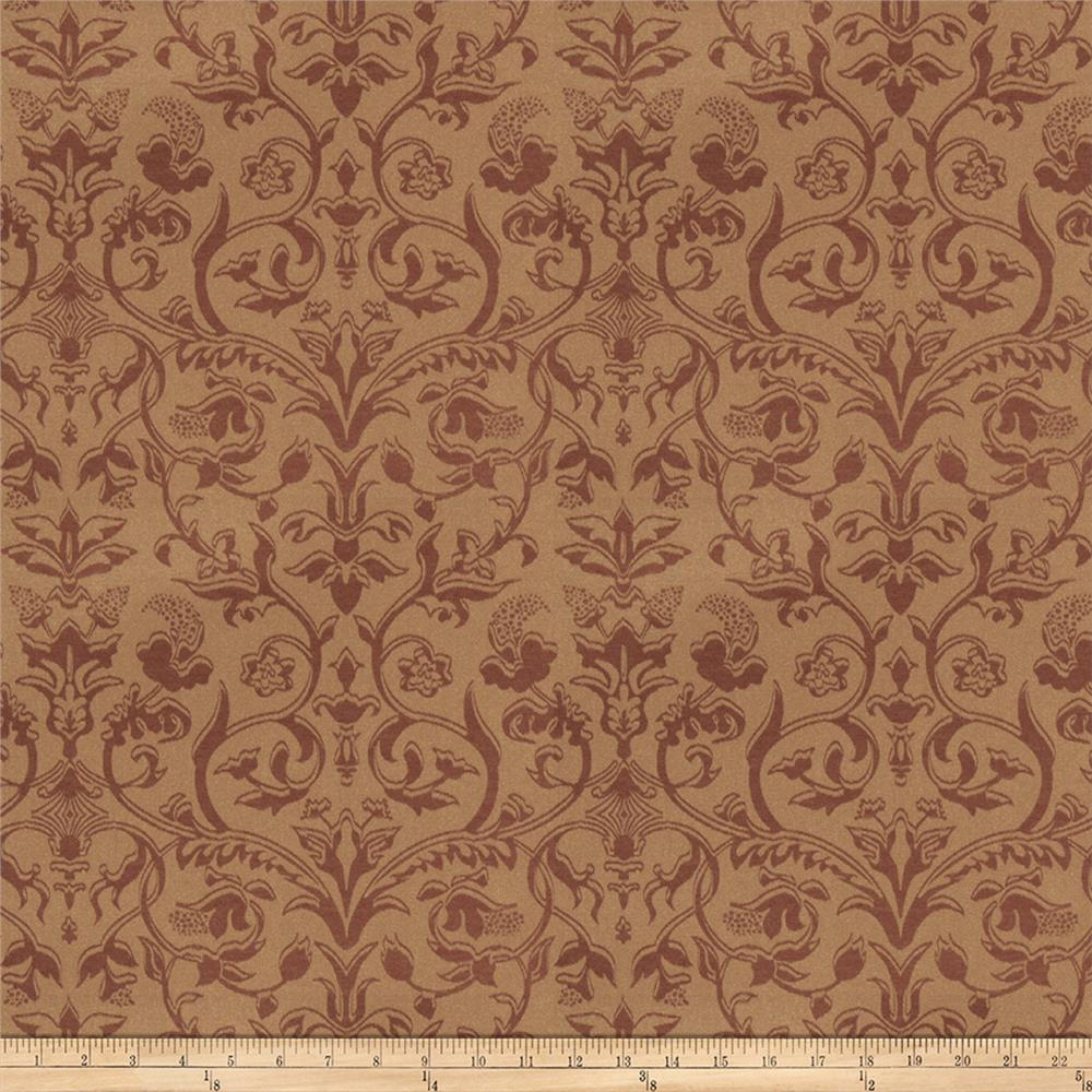 Trend 03485 satin jacquard damask brick discount for Jacquard fabric