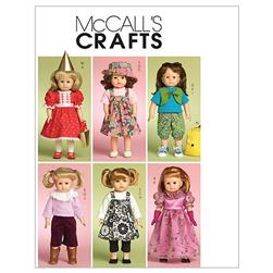 "McCall's Doll Clothes For 18"" Doll Pattern M5554 Size OSZ"