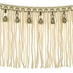 "Fabricut 9"" Mountain Resort Bullion Fringe Conch"