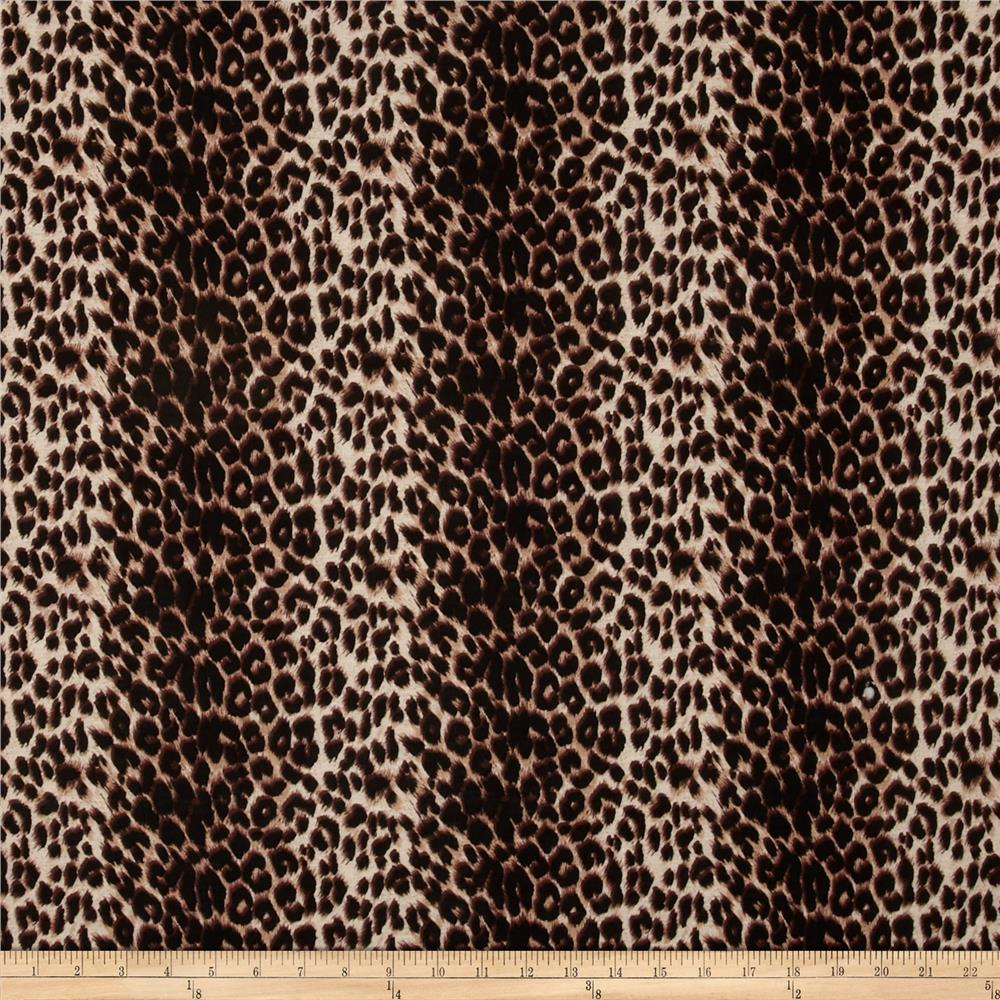 Rayon Jersey Knit Cheetah Print Black/Cream/Brown
