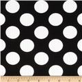Telio Paola Pique Knit Large Dots Black/Ivory