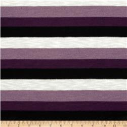 Yarn Dyed Hatchi Knit Stripes Purple