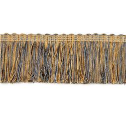 Decorative Trim Gourdon Brushed Fringe Tan/Blue