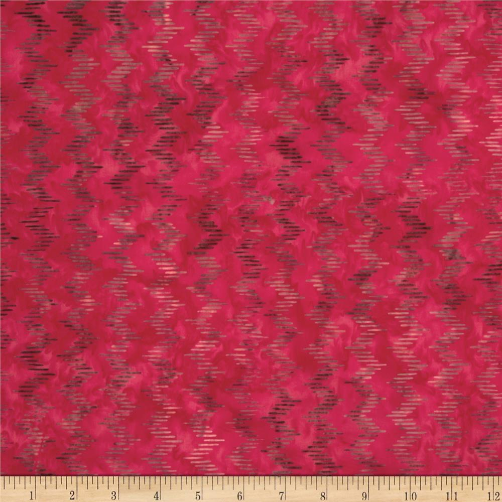 Moda Joy Batiks Slip and Slide Poinsettia Red