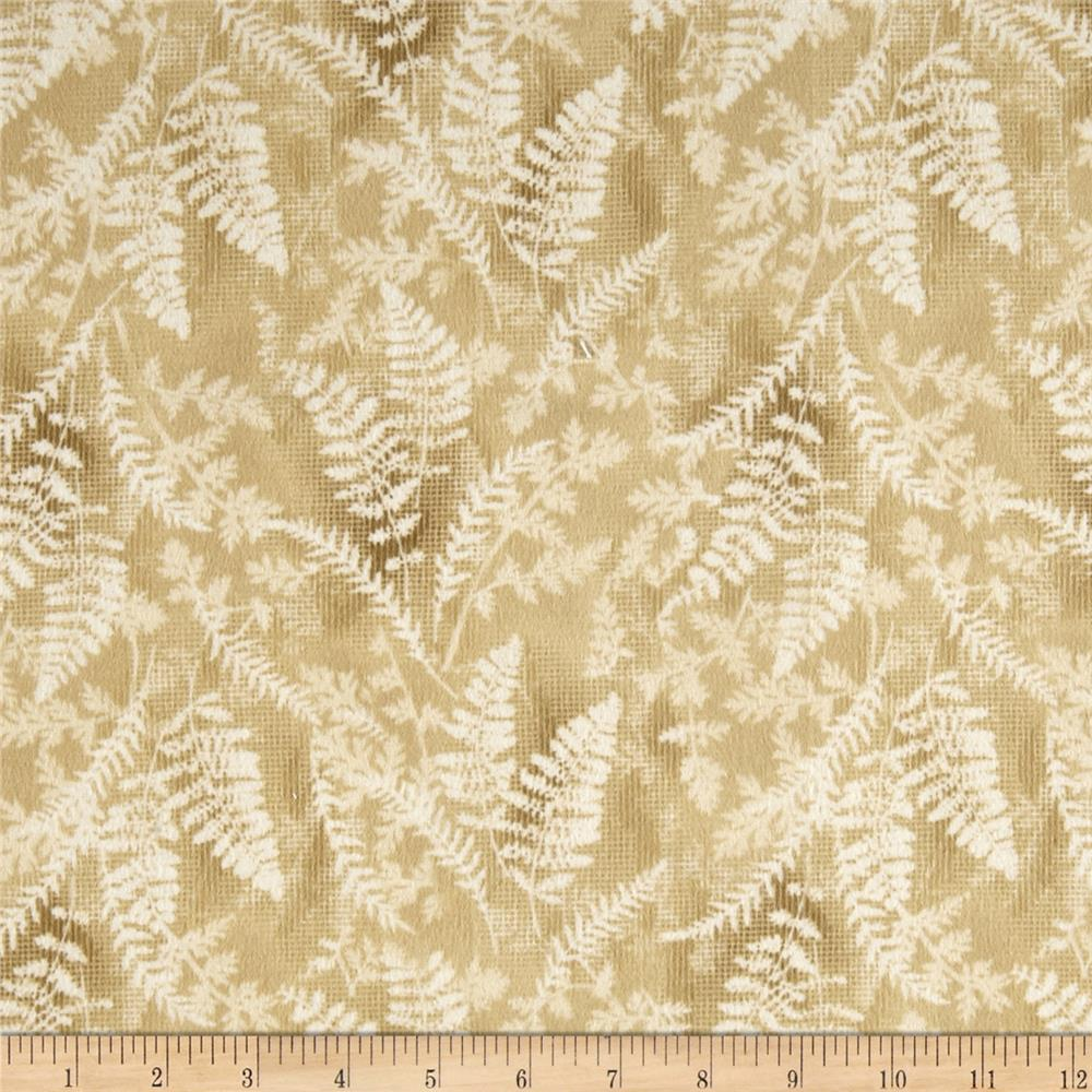 Timeless Treasures Cabin Flannel Fern on Textured Ground