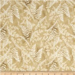 Timeless Treasures Cabin Flannel Fern on Textured Ground Beige