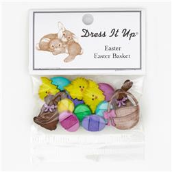 Dress It Up Embellishment Buttons  Easter Basket