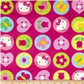 Hello Kitty Minky Ol Polka Dot Badge Pink