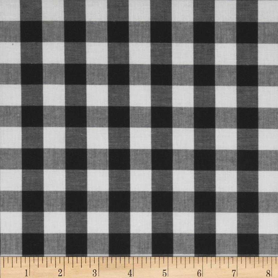 Stretch Yarn Dyed Shirting Check White/Black