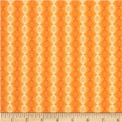Riley Blake Dinosaur Flannel Stripe Orange