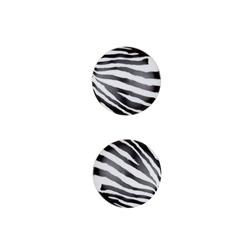Dill Novelty Button 13/16'' Polyamide Fashion Button Zebra