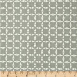 Floral Fairground Abstract Triangle Grey
