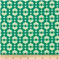 Tina Givens Riddles and Rhymes Foulard Green