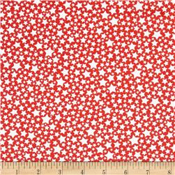 Michael Miller The Littles Starlettes Coral Fabric